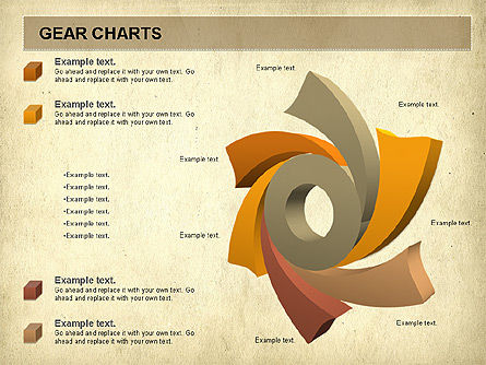 Gears Chart, Slide 8, 01060, Stage Diagrams — PoweredTemplate.com
