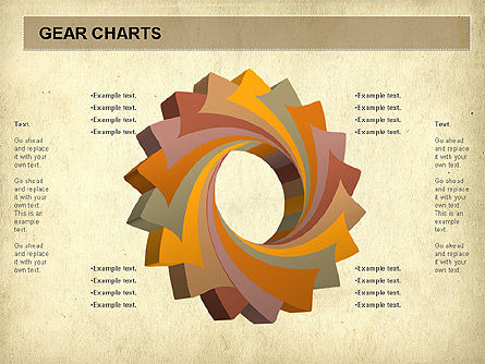 Gears Chart, Slide 9, 01060, Stage Diagrams — PoweredTemplate.com