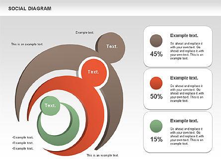 Social Diagram, Slide 10, 01061, Stage Diagrams — PoweredTemplate.com