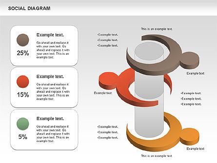 Social Diagram, Slide 11, 01061, Stage Diagrams — PoweredTemplate.com