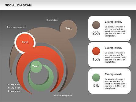 Social Diagram, Slide 12, 01061, Stage Diagrams — PoweredTemplate.com
