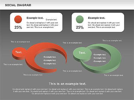 Social Diagram, Slide 14, 01061, Stage Diagrams — PoweredTemplate.com