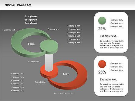 Social Diagram, Slide 15, 01061, Stage Diagrams — PoweredTemplate.com