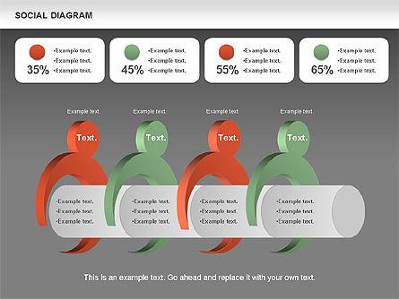 Social Diagram, Slide 16, 01061, Stage Diagrams — PoweredTemplate.com