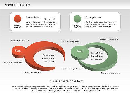 Social Diagram, Slide 5, 01061, Stage Diagrams — PoweredTemplate.com