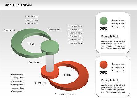 Social Diagram, Slide 6, 01061, Stage Diagrams — PoweredTemplate.com