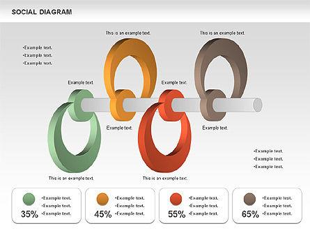 Social Diagram, Slide 8, 01061, Stage Diagrams — PoweredTemplate.com
