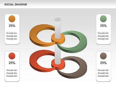 Social Diagram, Slide 9, 01061, Stage Diagrams — PoweredTemplate.com