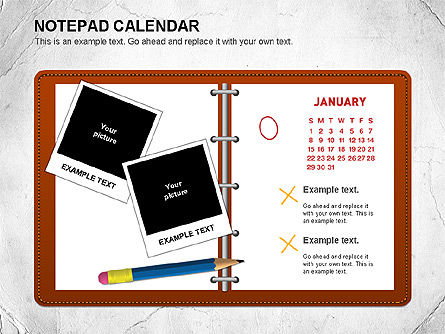 Notepad Calendar, 01063, Timelines & Calendars — PoweredTemplate.com