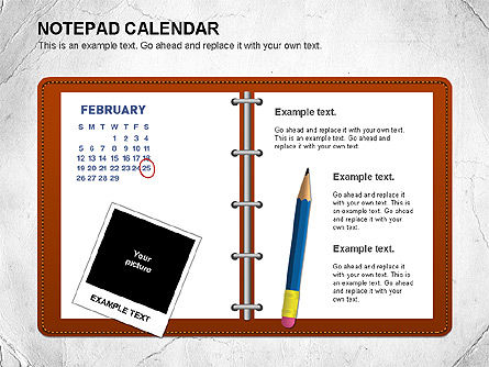 Notepad Calendar, Slide 2, 01063, Timelines & Calendars — PoweredTemplate.com
