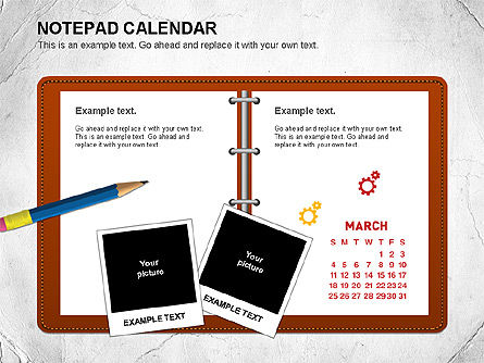 Notepad Calendar, Slide 3, 01063, Timelines & Calendars — PoweredTemplate.com