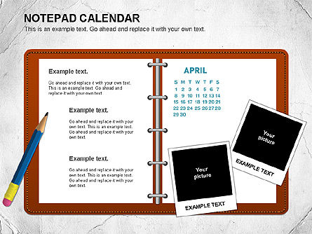 Notepad Calendar, Slide 4, 01063, Timelines & Calendars — PoweredTemplate.com