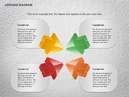 Arrows Diagram, Slide 4, 01064, Shapes — PoweredTemplate.com