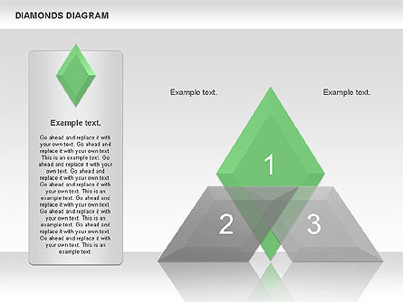 Transparent Diamonds Diagram, Slide 2, 01066, Business Models — PoweredTemplate.com