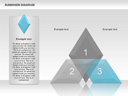 Transparent Diamonds Diagram, Slide 3, 01066, Business Models — PoweredTemplate.com