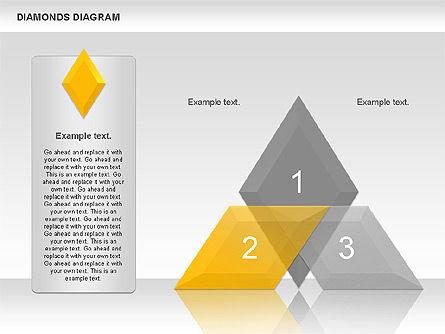Transparent Diamonds Diagram, Slide 4, 01066, Business Models — PoweredTemplate.com