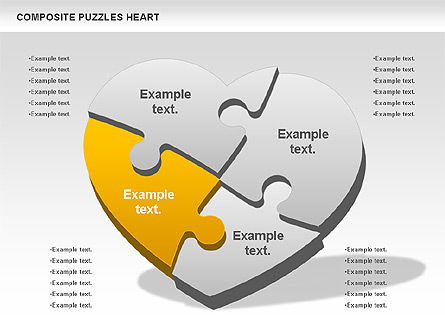 Puzzle Heart, Slide 3, 01068, Puzzle Diagrams — PoweredTemplate.com
