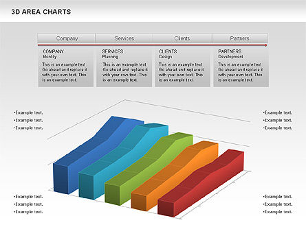 Business Models: 3D Area Chart (data driven) #01069