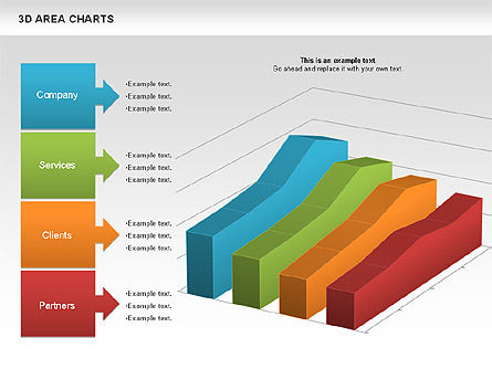 3D Area Chart (data driven), Slide 2, 01069, Business Models — PoweredTemplate.com
