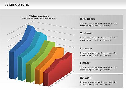 3D Area Chart (data driven), Slide 4, 01069, Business Models — PoweredTemplate.com