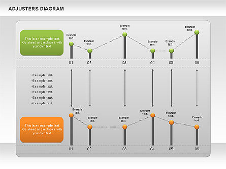 Adjusters Diagram, 01070, Business Models — PoweredTemplate.com