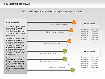 Adjusters Diagram, Slide 10, 01070, Business Models — PoweredTemplate.com