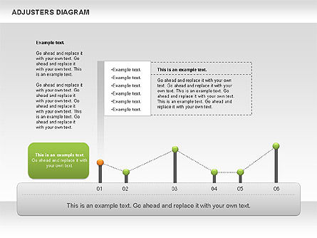 Adjusters Diagram, Slide 7, 01070, Business Models — PoweredTemplate.com