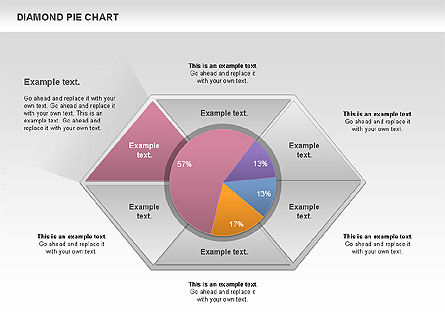 Diamond Pie Chart Slide 3