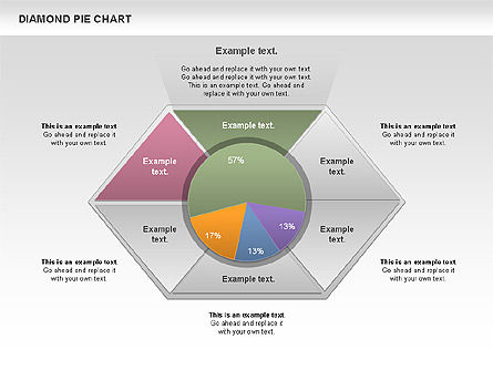 Diamond Pie Chart Slide 4