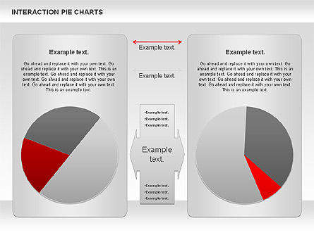 Interaction Pie Charts Diagram, 01078, Pie Charts — PoweredTemplate.com