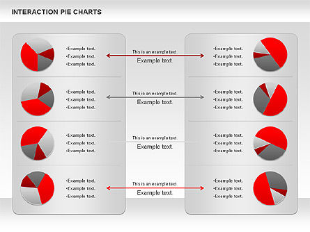 Interaction Pie Charts Diagram, Slide 2, 01078, Pie Charts — PoweredTemplate.com