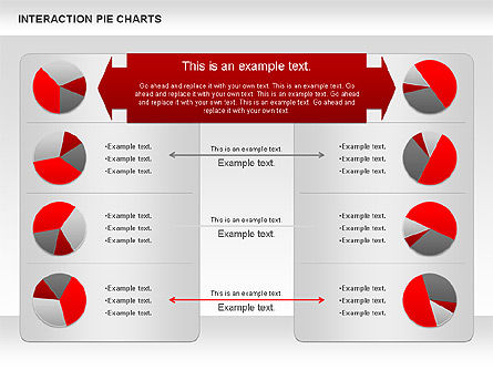Interaction Pie Charts Diagram, Slide 3, 01078, Pie Charts — PoweredTemplate.com