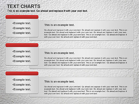 Text Boxes Chart, 01080, Text Boxes — PoweredTemplate.com