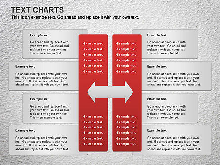 Text Boxes Chart Slide 4