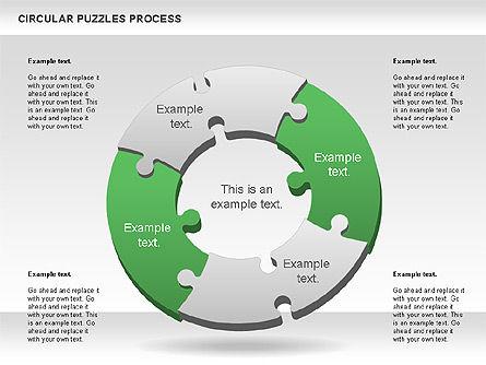 Donut Puzzle Chart, Slide 2, 01081, Puzzle Diagrams — PoweredTemplate.com