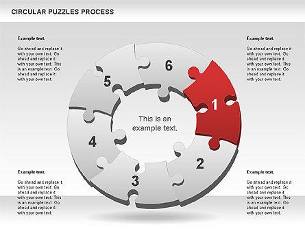 Donut Puzzle Chart, Slide 3, 01081, Puzzle Diagrams — PoweredTemplate.com