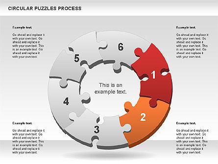 Donut Puzzle Chart, Slide 4, 01081, Puzzle Diagrams — PoweredTemplate.com