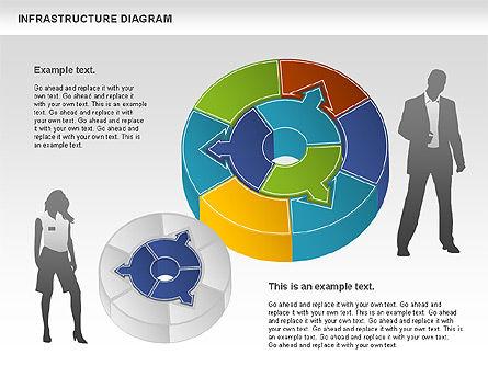 Process Circle Diagram - Infrastructure, Slide 2, 01085, Process Diagrams — PoweredTemplate.com