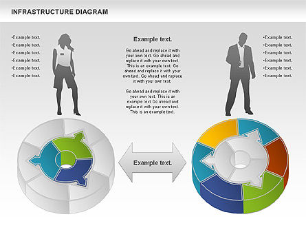 Process Circle Diagram - Infrastructure, Slide 4, 01085, Process Diagrams — PoweredTemplate.com