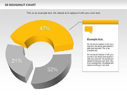 3D Donut Chart, Slide 2, 01086, Pie Charts — PoweredTemplate.com