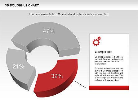 3D Donut Chart, Slide 3, 01086, Pie Charts — PoweredTemplate.com