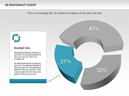 3D Donut Chart, Slide 4, 01086, Pie Charts — PoweredTemplate.com
