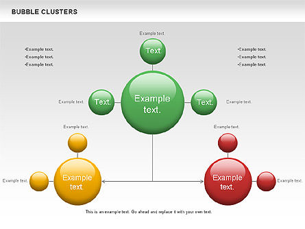 Graph Charts: Bubble Clusters Chart #01087