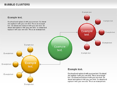 Bubble Clusters Chart, Slide 3, 01087, Graph Charts — PoweredTemplate.com