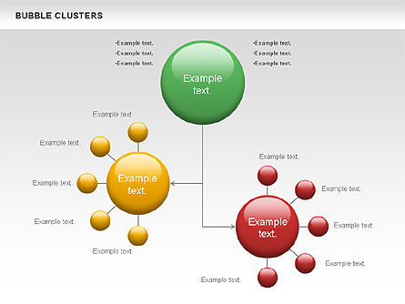 Bubble Clusters Chart, Slide 4, 01087, Graph Charts — PoweredTemplate.com