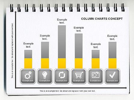 Graph Charts: Concetto del grafico a colonna #01089