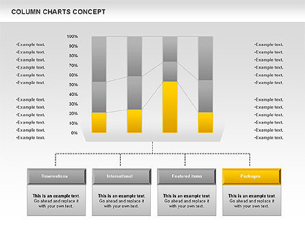 Column Chart Concept, Slide 10, 01089, Graph Charts — PoweredTemplate.com