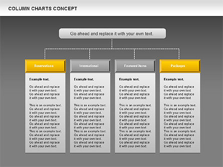 Column Chart Concept, Slide 13, 01089, Graph Charts — PoweredTemplate.com