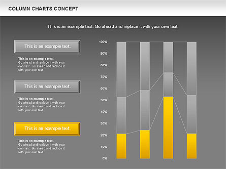 Column Chart Concept, Slide 14, 01089, Graph Charts — PoweredTemplate.com