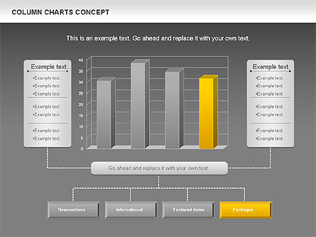 Column Chart Concept, Slide 15, 01089, Graph Charts — PoweredTemplate.com